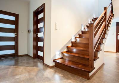 Hardwood stair installation